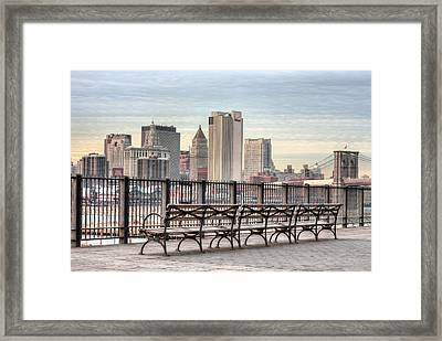 Along The Promenade  Framed Print