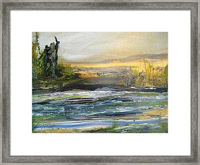 Along The River Framed Print by Linda King