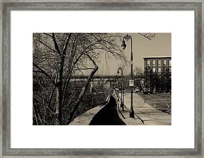 Framed Print featuring the photograph Along The River by Lois Lepisto