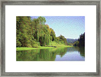 Along The Russian River 4 Framed Print