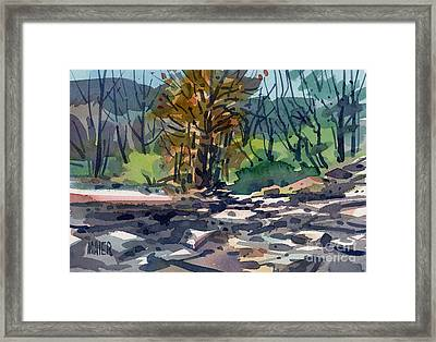 Along The Russian River Framed Print