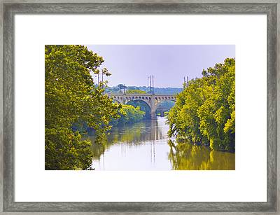 Along The Schuylkill River In Manayunk Framed Print by Bill Cannon