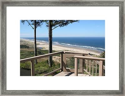 Along The Seashore Framed Print by Amy Holmes