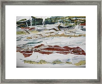 Along The Shore Framed Print by Linda King