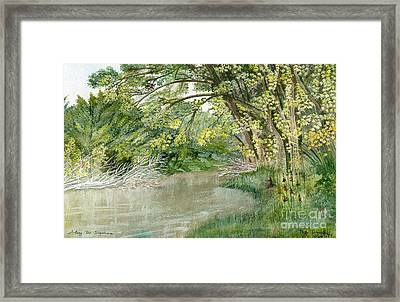 Framed Print featuring the painting Along The Susquehanna by Melly Terpening