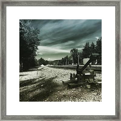 Along The Tracks Framed Print