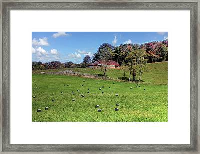 Framed Print featuring the digital art Along The Tracks by Sharon Batdorf
