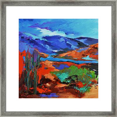 Along The Trail - Arizona Framed Print by Elise Palmigiani