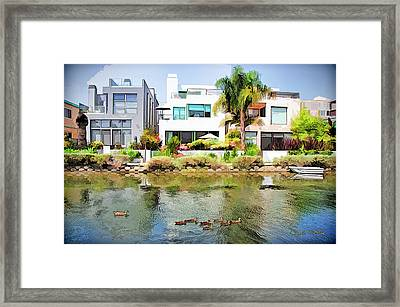 Framed Print featuring the photograph Along The Venice Canals by Chuck Staley