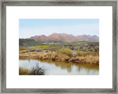 Along The Verde River Framed Print