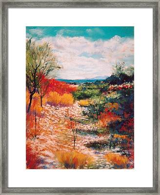 Along The Wash Framed Print by M Diane Bonaparte