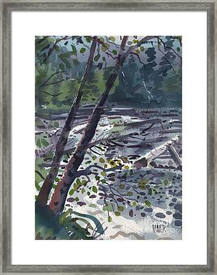 Along The White River Framed Print by Donald Maier
