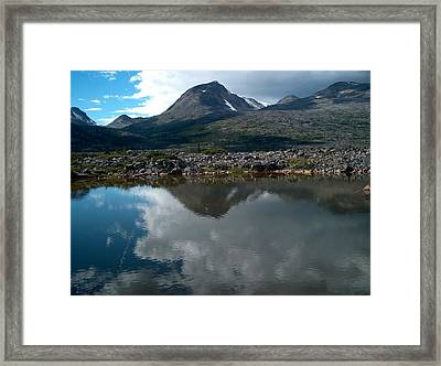 Along The Whitehorse Trail Framed Print by Janet  Hall