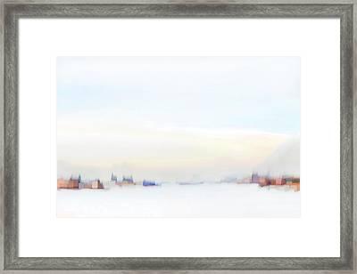 Along The Winter River Framed Print