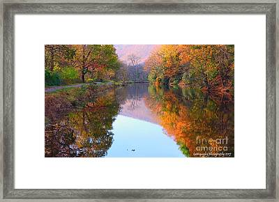 Along These Autumn Days Framed Print