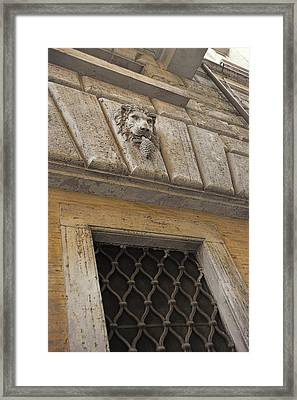 Along Via Di Pasquino Framed Print by JAMART Photography