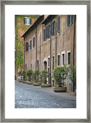 Along Via Giulia Framed Print by JAMART Photography