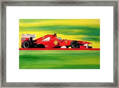 Alonso Ferrari Watercolour Framed Print