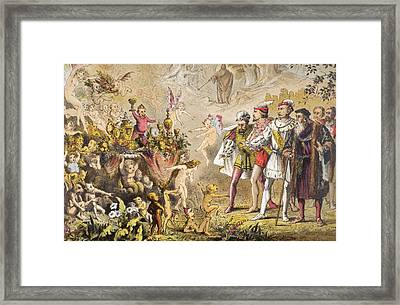 Alonso Speaks In The Tempest, Act IIi Framed Print