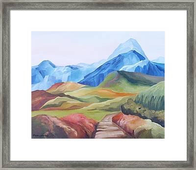 Alp Landscape Framed Print by Carola Ann-Margret Forsberg