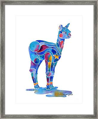 Alpaca Cria Heartz N Starz Framed Print