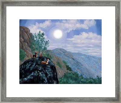 Alpaca Shaman Meditation Framed Print