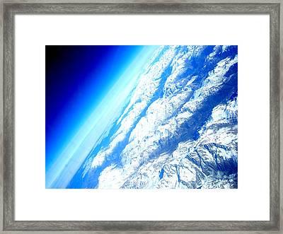 Alpen From Sky Framed Print