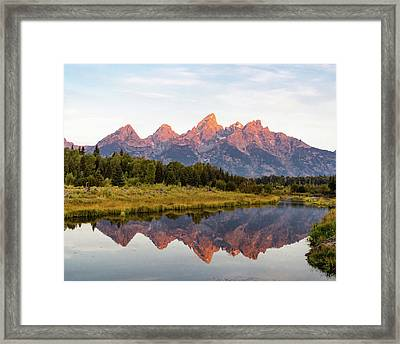 Framed Print featuring the photograph Alpen Glow by Mary Hone