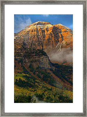 Alpenglow On Mt. Timpanogos Framed Print by Utah Images