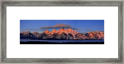 Alpenglow Tetons 2 Framed Print