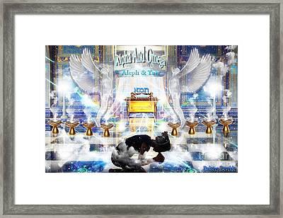 Alpha And Omega Framed Print by Dolores Develde