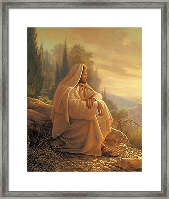 Alpha And Omega Framed Print by Greg Olsen