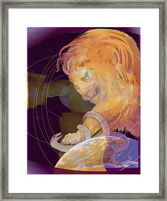 Alpha And Omega Framed Print by Nancy Watson