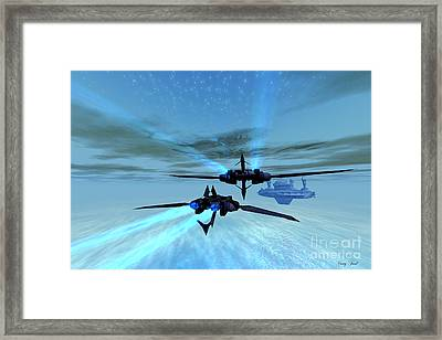 Alpha Base Framed Print by Corey Ford