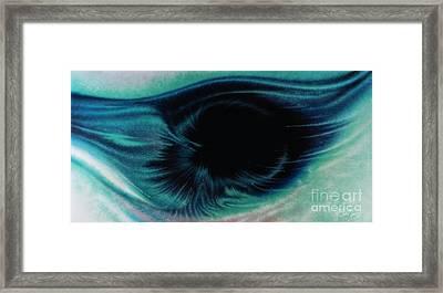 Alpha Eye Framed Print by Al Sabid Torres