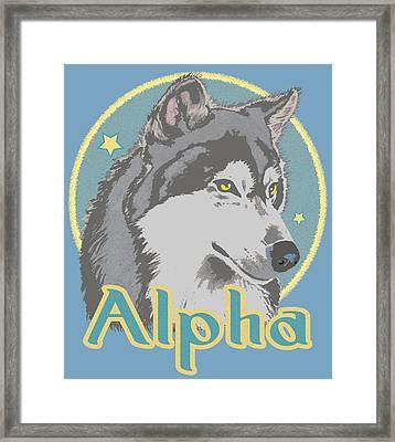 Alpha Framed Print
