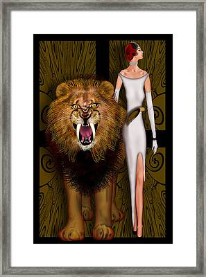 Alpha Male And The Pride Framed Print