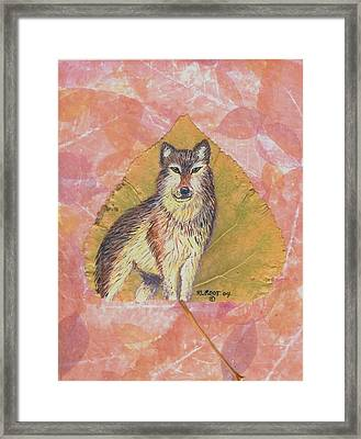 Alpha Male On Natural Leaf Framed Print