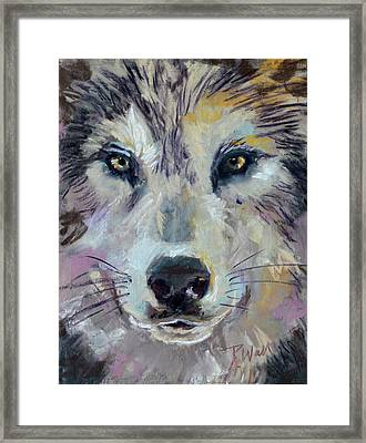Framed Print featuring the pastel Alpha by Pattie Wall