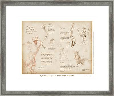 Alpha Werewolves Framed Print