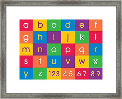 Alphabet Colors Framed Print by Michael Tompsett