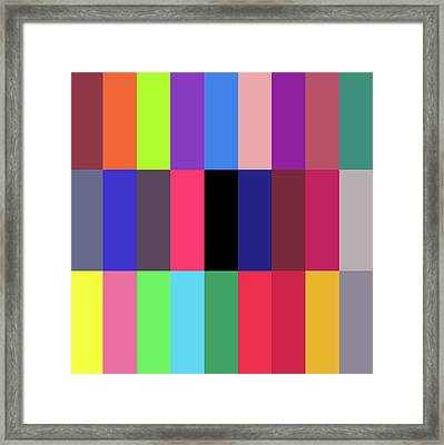 Alphabet -promotion- Framed Print by Coded Images