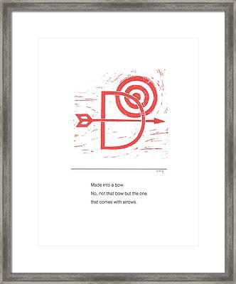 Alphabet Haiku Letter D Framed Print