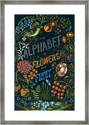 Alphabet Of Flowers Framed Print by Antique Art