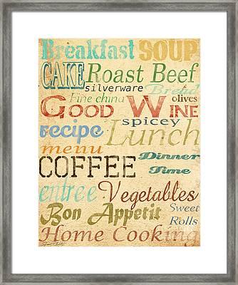 Alphabet Soup-a Framed Print