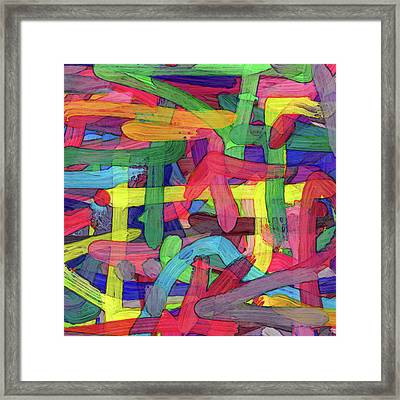 Alphabet Soup Framed Print by Coded Images