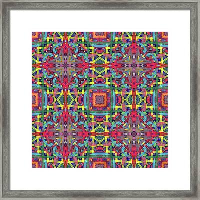 Alphabet Soup -multi-pattern- Framed Print