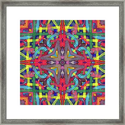 Alphabet Soup -pattern- Framed Print by Coded Images