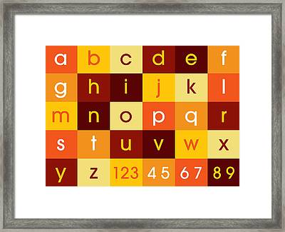 Alphabet Sunset Framed Print