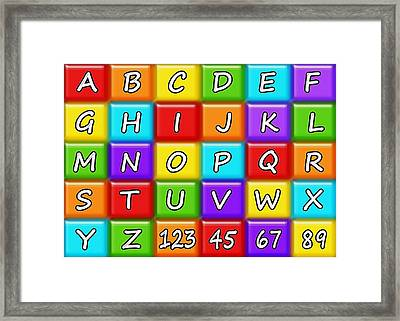 Alphabeth - Rainbow - Kids Room Framed Print by Anastasiya Malakhova